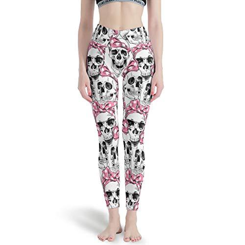 Dogedou Skinny yoga broek dames Skull joggingbroek voor fitness
