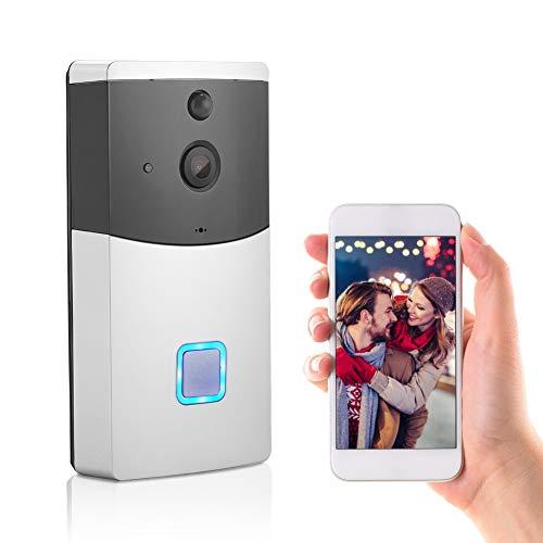 Videoportero Wifi Timbre Inalámbrico Exterior Inteligente, Timbre de Video 1080P con Almacenamiento en la Nube, Detección de PIR, Visión Nocturna (Timbres para puerta )