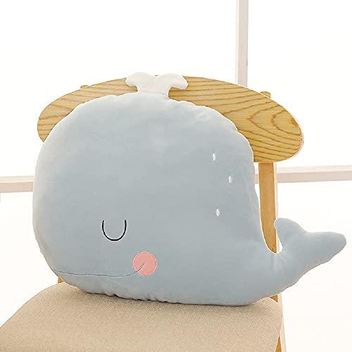 Almohada de juguete de felpa de dibujos animados ballena 45cm, regalo de cumpleaños para niños y niñas-compañeros de juegos para niños-muebles para el hogar