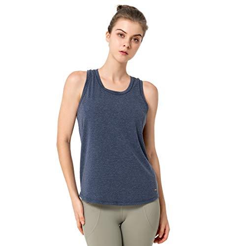 Yvette Camisetas sin Mangas Deportivas para Mujer Camiseta Deportiva con Espalda Cruzada Camiseta Deportiva para