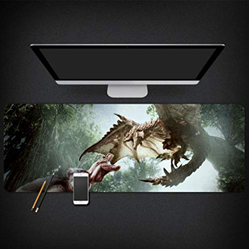 JINYIJUN Game Monster Hunter World Mouse Pad Studio Computer Bureau Mat Super Dikke Muis Pad, 800 * 300 * 3mm, Kleur1