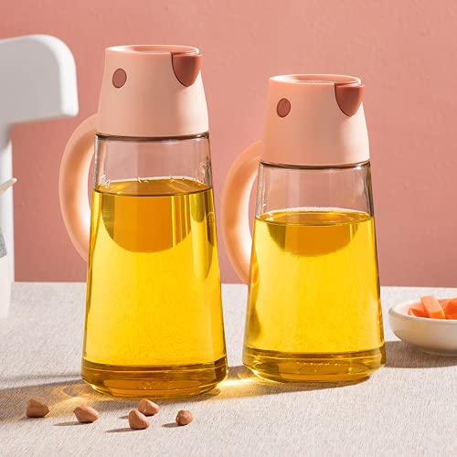 ättika och oljig flaska, rostfritt stål dispenser och glas olivolja flaskbehållare för grill, matlagning, grill, sputum, antiläckage och diskmaskinsäkerhet