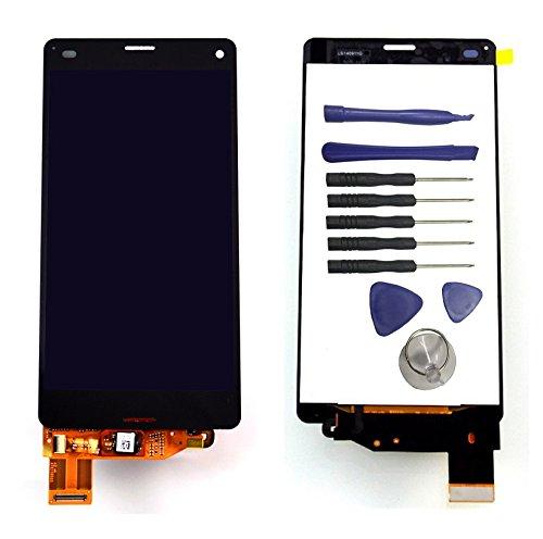 ixuan Sony Xperia Z3 Compact Mini D5803 D5833 Touchscreen, LCD-Display, zusammengebaut (ohne Rahmen), Schwarz