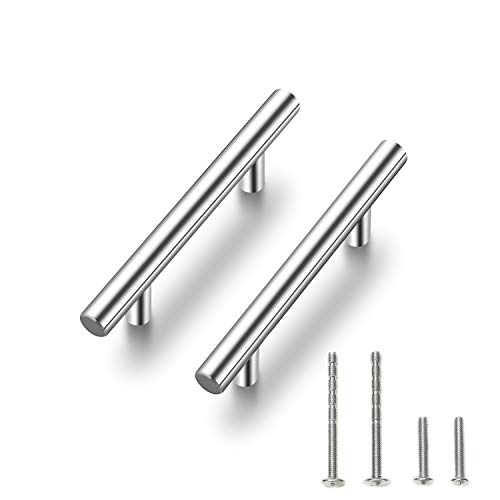 "Ravinte 30 Pack |6'' Cabinet Pulls Brushed Nickel Stainless Steel Kitchen Cupboard Handles Cabinet Handles 6""Length, 3.75"" Hole Center"