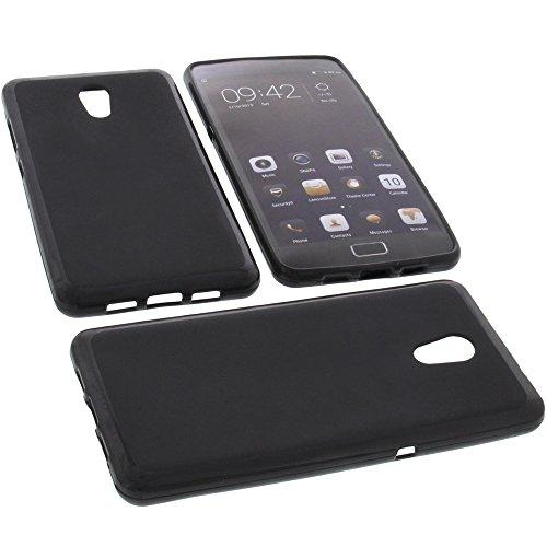 foto-kontor Tasche für Lenovo Vibe P2 Gummi TPU Schutz Handytasche schwarz