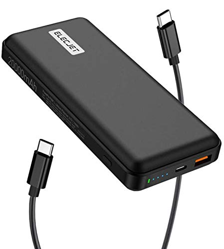 ELECJET PowerPie | USB C Power Bank 45W PD 3.0 PPS | 20000mAh | Super Fast Charge Samsung S20 S21 Ultra, Note 10+ | Compatible with Laptops, MacBook Pro, iPad Pro, Surface Pro, iPhone, Nintendo Switch