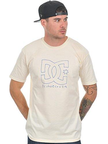 DC Shoes Scratchstar - T-shirt - Uni - Col ras du cou - Manches courtes - Homme, Ecru (Turtle Dove), Large (Taille fabricant: L)