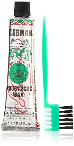 Clubman Moustache Wax Neutral 0.50 oz (Pack of 5)