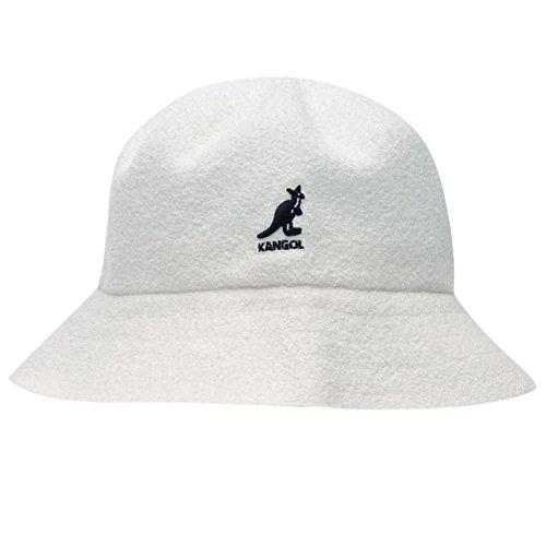 Kangol Herren Boucle Bucket Hut Mütze Weiß S/M