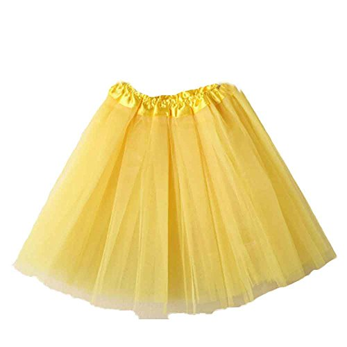FNKDOR Tutu Woman Mini Skirt Tulle 3 Strati EveningE Elasticità di Balletto Unica Tinta Unita