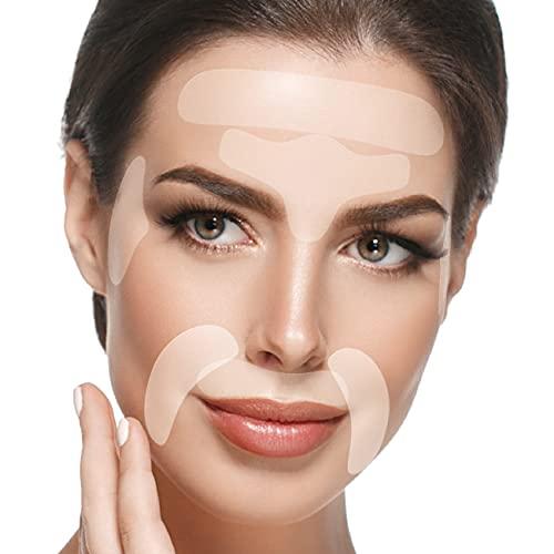 Facial Patches Anti Aging - 165 Gesichts Antifaltenpflaster: Stirn Falten Pads, Augenfältchen Streifen, Falten um Mund & Oberlippenfaltenbehandlung - Wiederverwendbare...