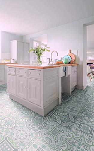 PVC Bodenbelag im Retro-Design (9,95€/m²), Zuschnitt (2m breit, 3m lang)