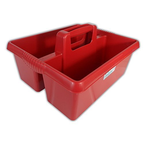 Wham Colourful Plastic Handy Kitchen Cleaning Tool Utility Caddy Storage Tidy (Chilli Red) by Wham