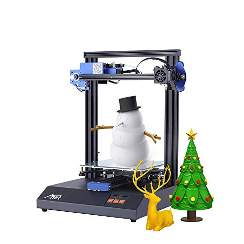 Anet Auto Leveling ET4 DIY 3D Printer, All Full Metal Fram with Resume Printing Function, 2.8 Inch LCD Color Touch Screen, Upgraded Over-Current Protection Mainboard,220X220X250mm
