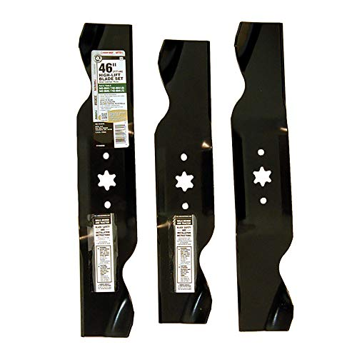 MTD Genuine Parts 490-110-M116 2-in-1 High-Lift Blade Set for 46-Inch Mowers 1997 and After