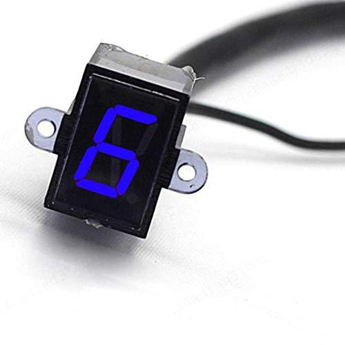 XILOSIN 6 Geschwindigkeits-Digital-Ganganzeige Motorrad Ganganzeige, Digitale LED-Anzeige für Motorrad-Motorrad für alle Motorrad