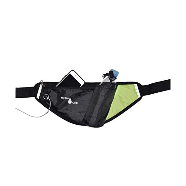 IGRIP Sports Original Hydro Grip â Water Bottle Belt for Walking, Jogging, Hiking, Hydration Waist pack with Holder for phone, bottle, snacks, keys, etc. (Bottle not included) and Lightweight!