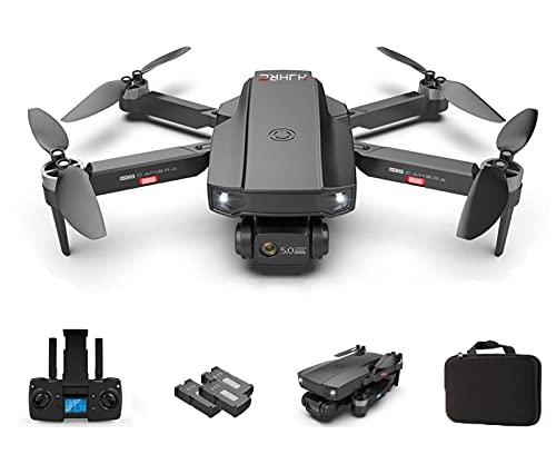 Drone QUANXI HJ-188 dobrável com câmera 1080P HD, Drone com GPS,motor sem escova, 5G transmissão ao vivo FPV, tempo de vôo longo, 3D Flip,WiFi 120 ° grande angular, modo sem cabeça para iniciantes (3 * Baterias, Preto)