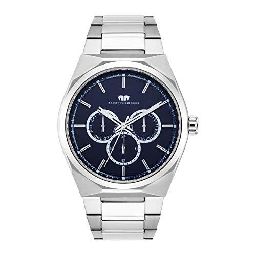 Rhodenwald & Söhne Reloj para Hombre Análoga Japón de Cuarzo con Cerrea de Acero Fino 10010217