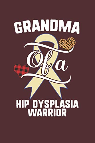 Grandma Of A Hip Dysplasia Warrior: Hip Dysplasia Awareness Leopard Buffalo Plaid Family Gift