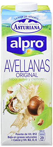 Alpro Central Lechera Asturiana Bebida de Avellana, 8 x 1000ml