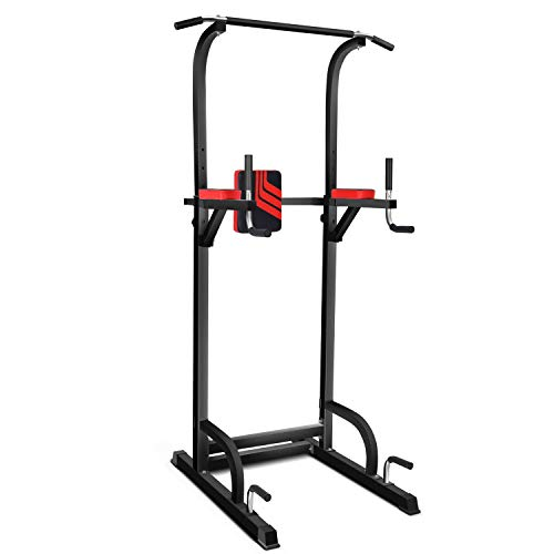 Power Tower Multi-Function Workout Dip Station for Home Gym Training Fitness Exercise Equipment Adjustable Height Pull/Push Up Bar