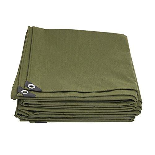 Bâche de protection imperméable en polyéthylène pour tentes extérieures - 600 g/m² - Épaisseur : 0,7 mm - Vert militaire - Taille : 2 x 4 m