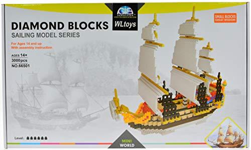 Tall sail Ship Micro Blocks Set with 3000 Bricks