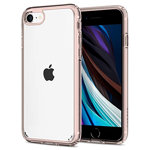 Spigen Ultra Hybrid 2 Kompatibel mit iPhone SE 2020 Hülle, iPhone 8/7 Hülle Einteilige Transparent Schutzhülle Case Rose Crystal 042CS20924