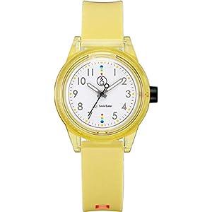 [シチズン Q&Q] 腕時計 アナログ スマイルソーラー マッチングスタイル 防水 ウレタンベルト RP29-008 レディース イエロー