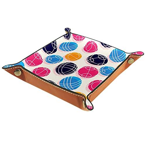 Bandeja de cuero para hombres y mujeres, organizador de escritorio personalizado para joyas, cosméticos, gafas, cartera, oficina, uso en el hogar