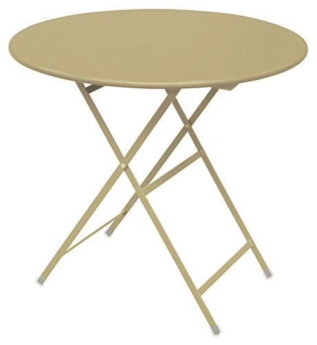 Arc En Ciel Emu Ronde Table Pliante Ø Cm 80 couleur Taupe Code 71