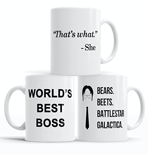 The Office Funny Coffee Mug | 3-Piece Merchandise Set |...
