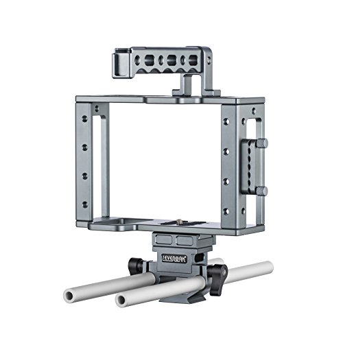 Sevenoak SK-C03 Aluminum Camera Cage with Top Handle, HDMI Adapter, and 15mm Rail System with Quick-Release Base - Universal Design fits DSLR Cameras with and Without Battery Grip