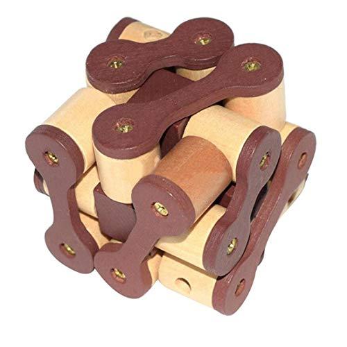 Yingwei VWH Classique en Bois Intelligence Jouet Casse-tête Jeu Puzzle 3D Chaîne Verrouiller Puzzle pour Enfants Adulte