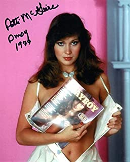 PATTI MCGUIRE SIGNED 8x10 PHOTO + PMOY 1977 PLAYBOY PLAYMATE RARE BECKETT BAS