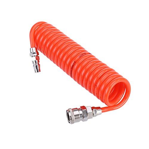 UKCOCO Luftschlauch-Luftkompressorschlauch mit drehbarem Ende und Biegungsbegrenzer-Anschluss