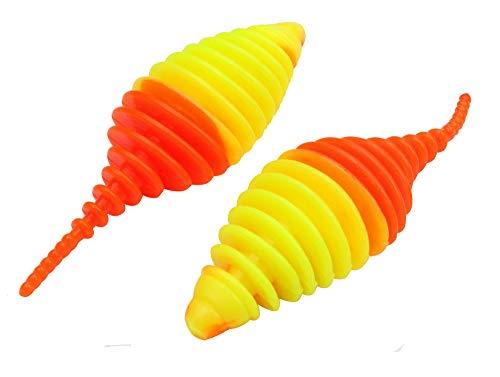 10 Forellenk/öder Farbe:neon orange-schwarz Geschmack:Bubble Gum FTM Omura Baits Snake 8,4cm 1,4g