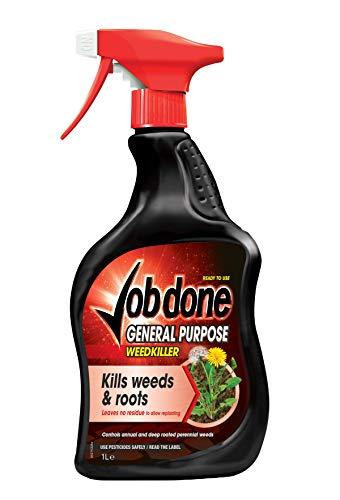 Job Done General Purpose Weedkiller Hierba de Hojas Anchas, Listo para Usar, 1 L
