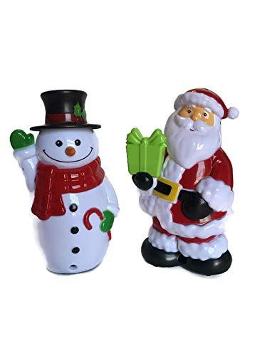 Weihnachtshaus mit Bewegungsmelder, Kunststoff, Singender Schneemänner und Weihnachtsmann, 5,75 Stück