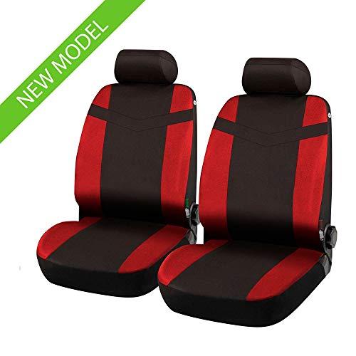 rmg-distribuzione Fundas de Asiento Delanteras Negras 307 SW versión (2002-2005 (T5) compatibles con Asientos con airbag, con Orificios para los reposacabezas y reposabrazos Laterales