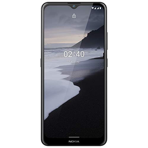 Nokia 2.4 Smartphone mit 6,5 Zoll HD+ Display, Portät- und Nachtmodus, Akku mit 2 Tage Laufzeit, Fingerabdrucksensor, robustes Design, Android 10 und Google-Assistant-Knopf, Charcoal