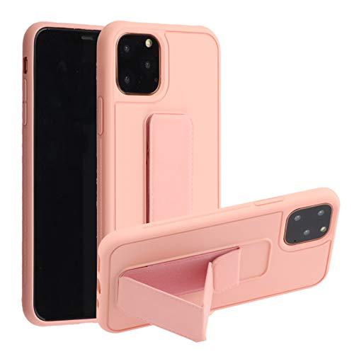 Suhctup Funda compatible con iPhone 12 Pro, carcasa de silicona prémium con soporte plegable, funda magnética con soporte para dedos, ultra fina a prueba de golpes, polvo