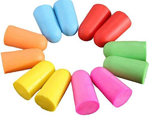 Ohrstöpsel, bequem, weicher Schaumstoff, konisch, um Lärm zu isolieren, Gehörschutz, verbessert die Schlafqualität, einzeln verpackt, 10 Paar