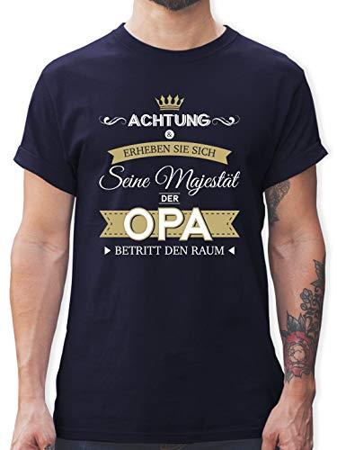 Opa - Seine Majestät der Opa - XL - Navy Blau - t Shirt Vatertag - L190 - Tshirt Herren und Männer T-Shirts