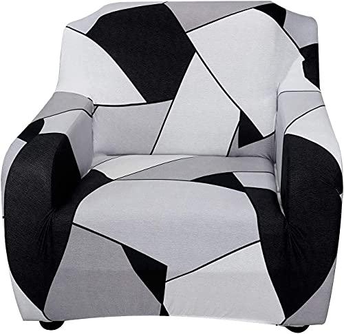 uyeoco Funda de Sofá Elástica para Sofá de 1 2 3 4 plazas, Impresión Universal Cubierta de Sofá Cubre Moda Sofá Antideslizante Sofa Couch Cover Protector