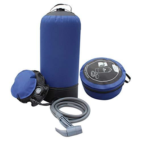 SUNASQ Camping Dusche Tragbar, im Freien Aufblasbare Dusche Druck Wasserbeutel, Camping Faltdusche Leichte Badestour für Fahrrad Auto Waschen Haustier Reinigungspflanzen Bewässerung