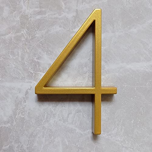 HJLINA 125mm Golden Floating Selling and selling Modern Door Max 44% OFF House Gold Home Number