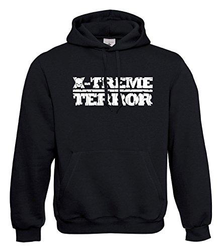 KNOW-MORE-STYLEZ Hooded Sweatshirt Hardcore Terrorist X-Treme Terror Kapuzenpulli Pulli Hoodie (M)