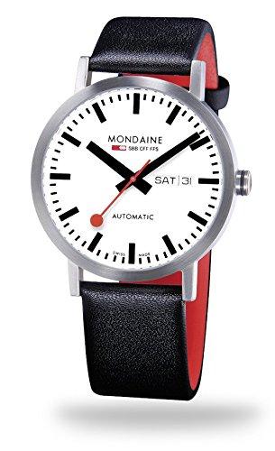 NEU Original MONDAINE Herrenarmbanduhr im Design der original Schweizer Bahnhofsuhr Mondaine -Classic Automatic 40mm- A132.30359.16SBB